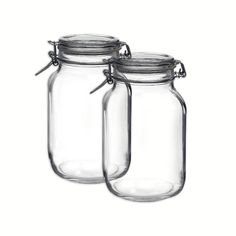 Bormioli Rocco Set OF 2 Bormioli Rocco Fido Square Jars With Clear Bail And Trigger Lids,67-3/4-ounc *** Check this awesome product by going to the link at the image.