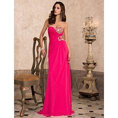 TS+Couture+Prom+/+Formal+Evening+/+Military+Ball+Dress+-+Fuchsia+Plus+Sizes+/+Petite+Sheath/Column+Sweetheart+/+Strapless+Floor-length+Chiffon+–+USD+$+119.99