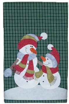 Tea Towel Patternlet - Snowman and Son Pattern Download