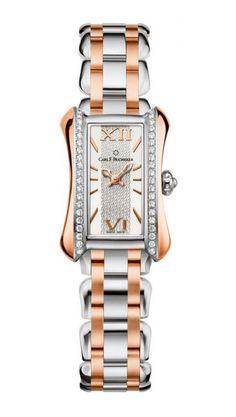 Carl F. Bucherer 00.10703.07.15.31 Alacria Princess TwoTone - швейцарские женские часы - наручные, стальные, золотые с бриллиантами, белые