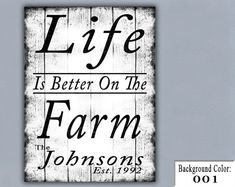 FARM Handmade Sign Wooden Sign Wood Sign Home by thatsonesweetsign