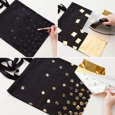 Glam things up with these glitter totes.