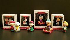 Lot of 4 Peanuts Gang Collector's Series #'s 1-4 Hallmark Ornaments 1993-1996