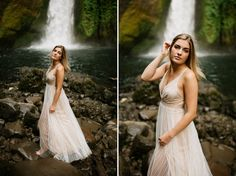 Portland Senior Photos taken at Wahclella Falls in the Columbia River Gorge by Katy Weaver