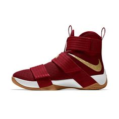 2e3db9d6d3f1b Nike Zoom LeBron Soldier 10 iD Men s Basketball Shoe Size 10.5 (Red) White  Basketball