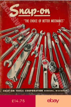 The Choice of Better Mechanics, Garage Tool Advert Small Metal/Steel Wall Sign Mechanic Garage, Mechanic Shop, Mechanic Tools, Antique Tools, Old Tools, Vintage Tools, Vintage Metal Signs, Vintage Style, Garage Tools