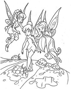 Teaching Tinkerbell Coloring Page For Kids And Adults From Cartoons Pages Disney Fairies