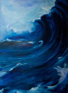 Waves, Outdoor, Art, Art Therapy, Art Gallery, Artworks, Watercolor, Pictures, Outdoors