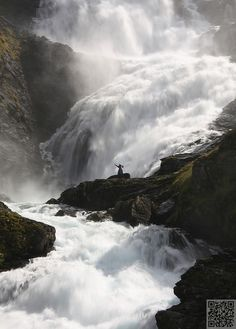Kjosfossen Waterfall,Norway