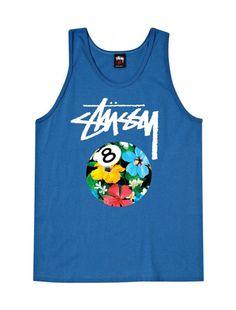 8 Ball Flower Tank #stussy #tank #summer