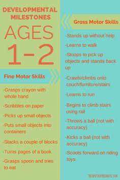 Developmetnal Milestones ages 1-2 resize