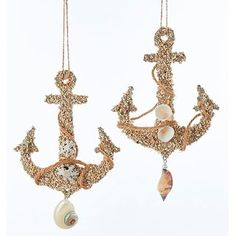 Shop for Ships Anchors with Shells Christmas Holiday Ornaments Wooden Set of 2. Free Shipping on orders over $45 at Overstock.com - Your Online Home Decor Shop! Get 5% in rewards with Club O! - 23139140