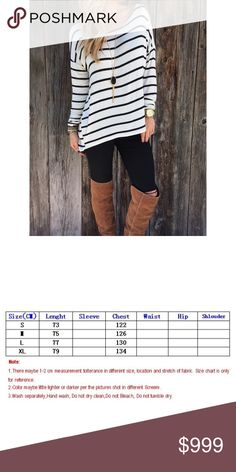 Black & White Striped Shirt - Fall Must Have This Black & White Striped Shirt is a Fall Must Have!! Made of Cotton. COMING SOON - Will not be more than $30 once available. Happy Poshing 😘😘 Tops Tees - Long Sleeve