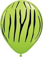 Neon Green Zebra Party...Cool!  lime green zebra print balloons
