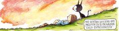 """""""Después de terminar el secundario en el colegio Saint Brendan's en Belgrano, Liniers intentó seguir la tradición familiar y se inscribió en Derecho. Un poco más tarde probó suerte con Ciencias de la Comunicación y luego estudió publicidad, pero no se dedicó a ello; comenzó a dibujar para fanzines y luego para medios profesionales, publicando en Lugares, ¡Suélteme!, Hecho en Buenos Aires, Calles, Zona de Obras, Consecuencias, ¡Qué suerte!, Olho Mágico, 9-11 Artists respond, Comix 2000 y…"""