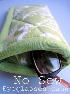 Two Shades of Pink: No Sew Eyeglasses Case: Good Living Magazine Project #1
