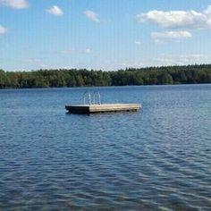 Swimming on the lake