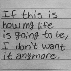 I just want to be able to talk to someone. All it would take is a simple question. Are you okay? That's all it would take. It could save someone's life.