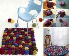 Des tapis simple à réaliser avec des boule de laine