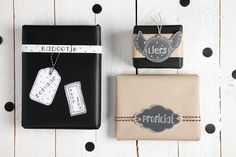 Cadeaulabels uit Cards and Scrap - Creative Letters. Kijk op www.hobbyou.nl