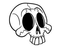 Dibujo de Cráneo para colorear