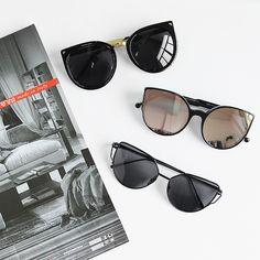 f41e37553a Black Frame Mirror Lens Sunglasses