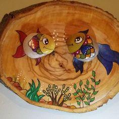 Kütük üzerine balıklar...