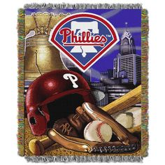 """Phillies """"""""Home Field Advantage"""""""" 48x60 Tapestry Throw"""