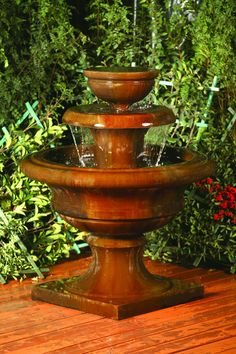 Free Shipping and No Sales Tax on the Liveo Garden Water Fountain from Outdoor Fountain Pros.