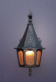 Tudor Light   Vintage Tudor/Storybook Porch Light Fixtures. Priced Each