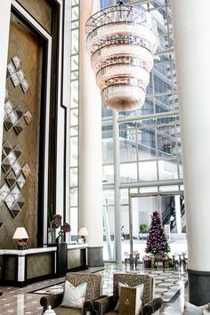 Lobby at Fullerton Bay Hotel