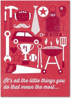It's all about the little things.  Personalized Father's Day cards from Treat.com