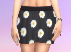 Daisy Skirt by BumbleDeev at Mod The Sims via Sims 4 Updates