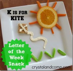 letter of the week snack ideas: k is for kite #letteroftheweek #crystalandcomp