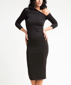 Look at this Laranor Black Asymmetrical Dress on #zulily today!