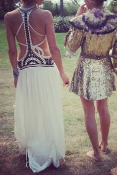 barefoot + sequined