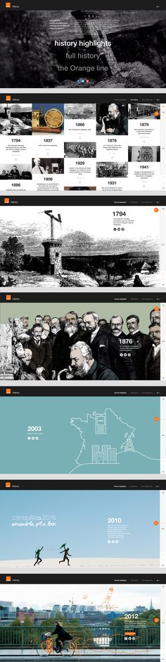 Oh - how effective are these illustrations in this historical timeline. We love illustrated websites! #illustration #webdesign
