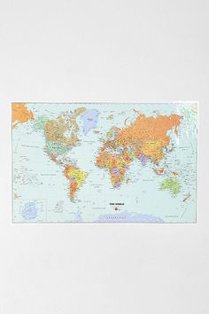 Dry Wipe Wall Map - Urban Outfitters