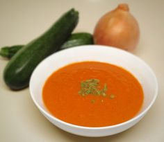 Creamy Tomato Soup with Hidden Vegetables - Low Carb, Gluten Free, Dairy Free, Paleo - Preheat to 350˚