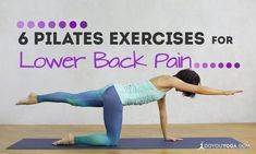 Suffering from lower back pain and stiffness? Pilates can help! Try these 6 Pilates exercises to get soothing back pain relief stat. #PilatesExercise