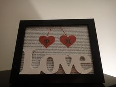 3-D Love Lyrics - Poem -Love in different languages.  Such a great wedding/anniversary gift idea!