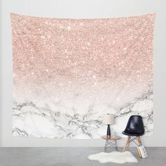 Buy Modern faux rose pink glitter ombre white marble Wall Tapestry by Girly Trend. Worldwide shipping available at Society6.com. Just one of millions of high quality products available.