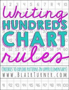 Hundreds Chart Rules {Freebie!}