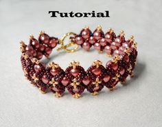 TUTORIAL for Roses beaded bracelet