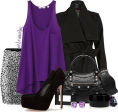 """""""Purple + Sequin"""" by airbornewifey on Polyvore"""