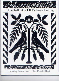 folk art eagle scherenschnitte | Scherenschnitte-Traditional papercutting Book 1