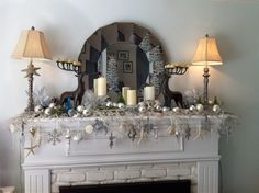Beachy holiday mantle