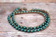 Nice crocheted bracelet  Etsy listing at https://www.etsy.com/listing/236261287/crochet-beaded-bracelet-pearl-bracelet