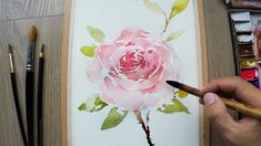 How to paint a rose in watercolors - Level 4
