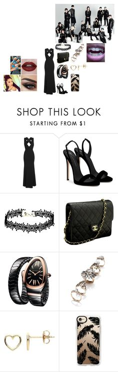 """Award Shows With Seventeen #10"" by infinityisangel ❤ liked on Polyvore featuring LULUS, Giuseppe Zanotti, Chanel, Bulgari, 3 AM Imports, Estella Bartlett and Casetify"